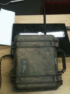 Peli case full of electronics just recovered from being buried in the ground.  Still works, didn't overheat!